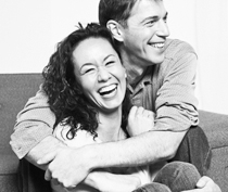 Photo of couple laughing